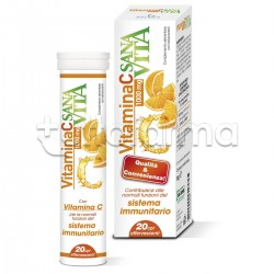 Sanavita Vitamina C Integratore per Difese Immunitarie 20 Compresse