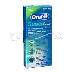 Oral-B Super Floss Filo Interdentale Ponti Apparecchi Ortodontici 50 Fili Pre-Misurati