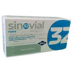 Sinovial Forte Siringa Intra-Articolare con Acido Ialuronico 3 Pezzi
