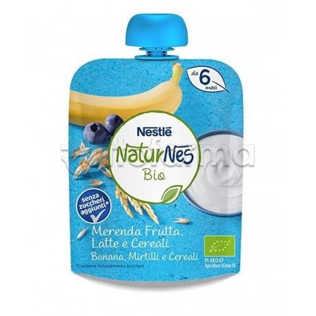 Nestlè NaturNes Biologico Merenda con Frutta ai Cereali con Banana e Mirtilli 90gr