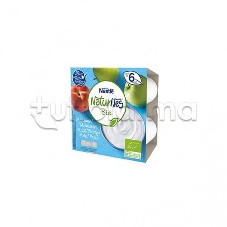 Nestlè NaturNes Biologico Merenda al Latte con Mela e Pesca 4x90gr