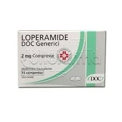 Loperamide Doc Generici 15 Compresse 2 mg contro Diarrea (Equivalente Imodium)