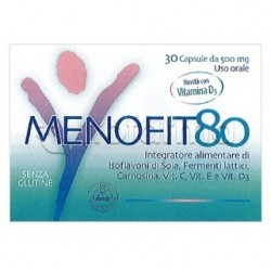 Menofit80 Integratore per Donna in Menopausa 30 Capsule