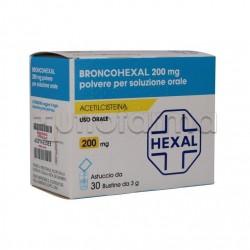 Broncohexal 30 bustine 200 mg Mucolitico per Tosse e Catarro