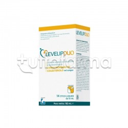 LevelipDuo Integratore per Controllo Colesterolo 14 Stick Liquidi