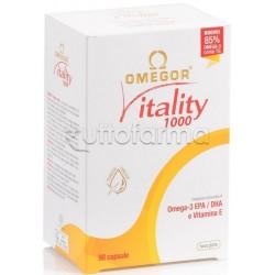 Omegor Vitality 1000 Omega 3 per Benessere Cuore e Trigliceridi 90 Capsule Molli