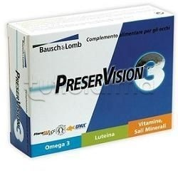 Preservision 3 Integratore per Vista e Salute Occhi 30 Capsule