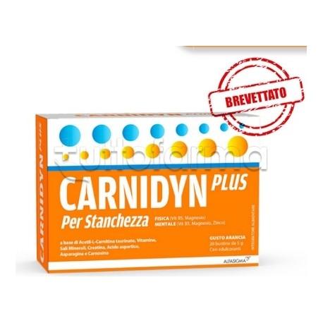 Carnidyn Plus per Stanchezza Integratore Energetico 20 Bustine