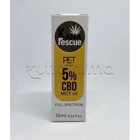 KanaRescue Olio con Cannabis CBD 5% Uso Veterinario 10ml