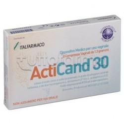 Acticand 30 Per Candida E Infezioni Vaginali 8 Compresse Vaginali