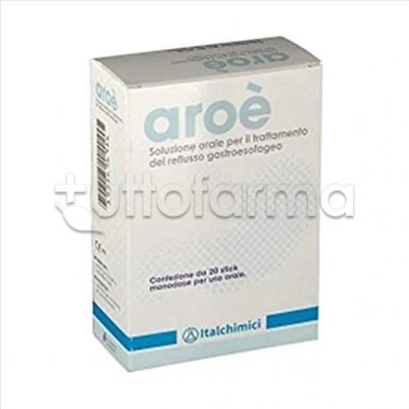Aroè Soluzione Orale per Il Reflusso 20 Stick Orali Monodose