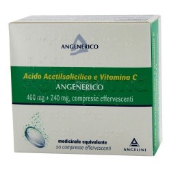 Acido Acetilsalicilico e Vitamina C Angenerico 20 Compresse Effervescenti Equivalente Aspirina C