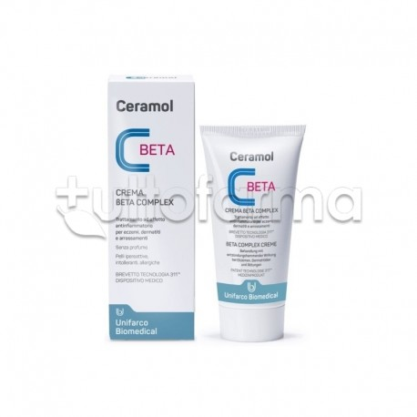 Ceramol Beta Complex Crema Antinfiammatoria per Dermatiti e Eczemi 50ml