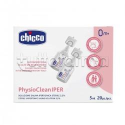 Chicco PhysioClean IPER Soluzione per Decongestionare le Vie Respiratorie 20 Fiale da 5ml