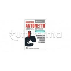 Digestivo Antonetto Crema Menta per Acidità e Reflusso 40 Compresse Masticabili