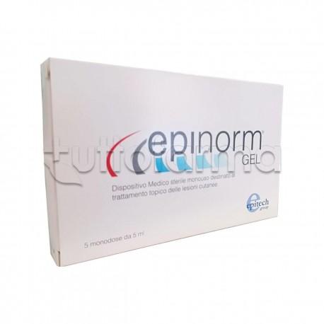 Epinorm Gel per Lesioni Cutanee 5 Fiale Monodose da 5ml