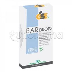 GSE Ear Drops Free Gocce per il Mal d'Orecchio 10 Pipette