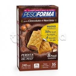 Pesoforma Biscotti Cioccolato e Nocciola Sostituti Pasto 16 Biscotti per 8 Pasti