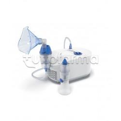 Omron C102 Total Nebulizzatore a Pistone con Doccia Nasale per Aerosolterapia