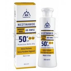 Nicotinamide Ak-Nmsc 50+ Crema Solare per Pelle Sensibile 200ml