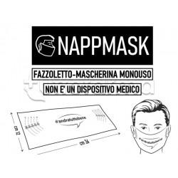 Mascherina Fazzoletto Monouso Igienica e Protettiva 20 Pezzi