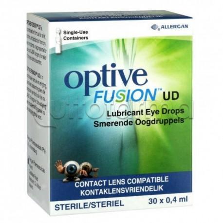 Optive Fusion UD Collirio Monodose Lubrificante per Occhi Secchi 30 Flaconcini 0,4ml