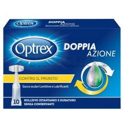 Optrex Doppia Azione Gocce Oculari Monodose per Prurito agli Occhi 10 Flaconi