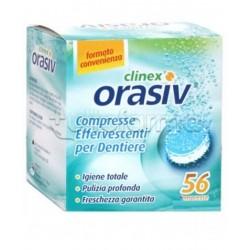 Orasiv Clinex per l'Igiene delle Protesi Dentali 56 Compresse Effervescenti