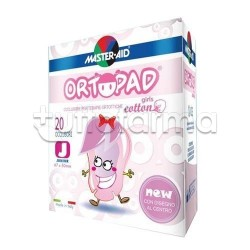 Master-Aid Ortopad Girls Cotton Junior Cerotto Occlusore per Strabismo per Bambini 20 Pezzi