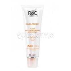RoC Solare Fluido Protezione 50 Prevenzione Macchie Pelle 50ml