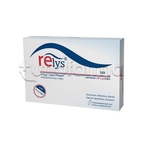 Relys Collirio Monodose per Occhi Secchi 15 Contenitori Monodose