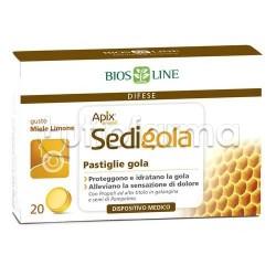 BiosLine Sedigola Apix per il Mal di Gola 20 Pastiglie Miele/Limone