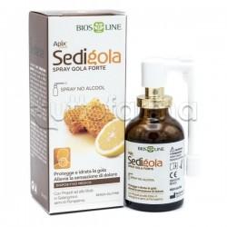 BiosLine Sedigola Apix Spray Forte per il Mal di gola di Adulti e Bambini 30ml