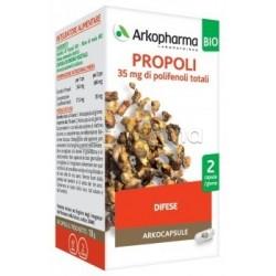 Arkocapsule Propoli Bio Integratore per Tosse, Mal di Gola e Difese Immunitarie 40 Capsule