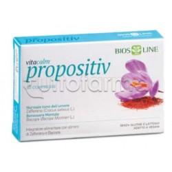 BiosLine Vitacalm Propositiv Integratore per Umore e Stress 30 Compresse