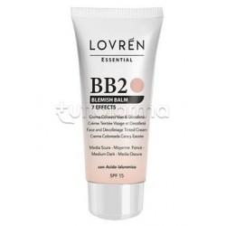 Lovren BB Cream B2 Blemish Balm Tonalità Medio-Scura 25ml