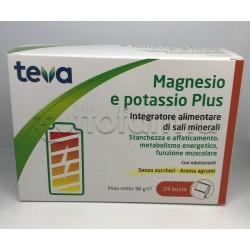 Teva Magnesio e Potassio Plus Integratore di Sali Minerali 24 Bustine