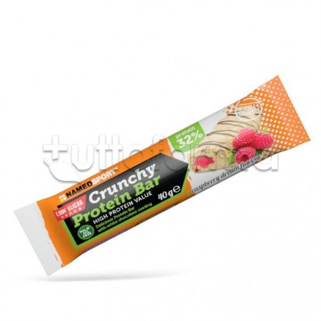 Named Sport Crunchy ProteinBar Gusto Raspberry Lampone 40g