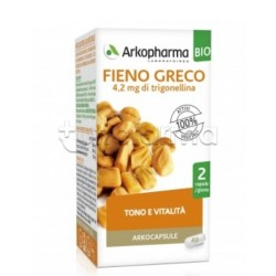 Arkocapsule Fieno Greco Bio Integratore per Tono e Appetito 40 Capsule