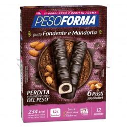 Pesoforma Barrette Cioccolato e Cuore di Mandorle Sostituti Pasto 12 Pezzi per 6 Pasti