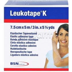 Cerotto Elastico Leukotape K Taping Blu 7.5 cm x 5 mt
