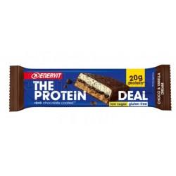 Enervit The Protein Deal Barretta Proteica per Sportivi Gusto Cioccolato e Vaniglia 55gr