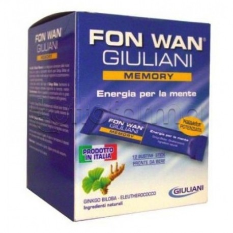 Giuliani Fon Wan Memory Integratore 12 Buste Da10ml