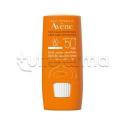 Avene Solare Stick Zone Sensibili Viso Protezione 50+ 8gr