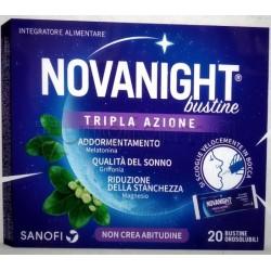 Novanight Tripla Azione per Sonno e Riposo 20 Bustine Orosolubili