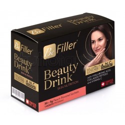 Be Filler Beauty Drink Integratore per Pelle, Capelli e Unghie 30 Bustine