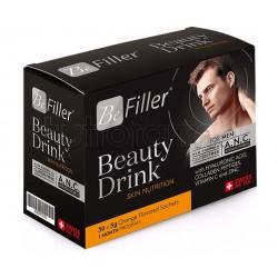 Be Filler Beauty Drink For Men Integratore per Pelle, Capelli e Unghie 30 Bustine
