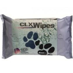 Clx Wipes 40 Strappi Salviette Veterinarie per Cani e Gatti 12 Pezzi