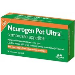 Neurogen Pet Ultra Mangime Veterinario per Invecchiamento Cerebrale di Cani e Gatti 30 Compresse