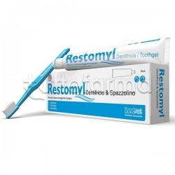 Restomyl Dentifricio e Spazzolino Extra Soft Veterinario per Cani e Gatti